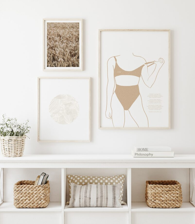 A summer-inspired gallery wall by Ninon