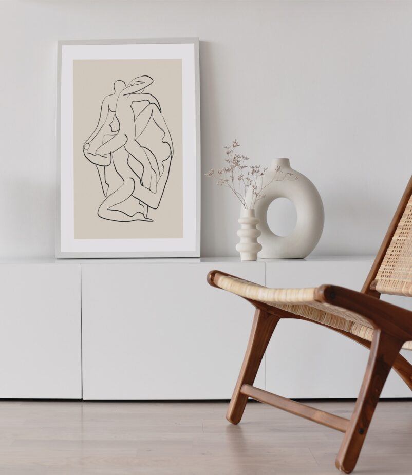 Ensemble in Contemporary Art Collection is a minimalistic yet powerful piece expressing how individual action can drive collective change for sustainable living and conscious lifestyle | Art print by Ninon