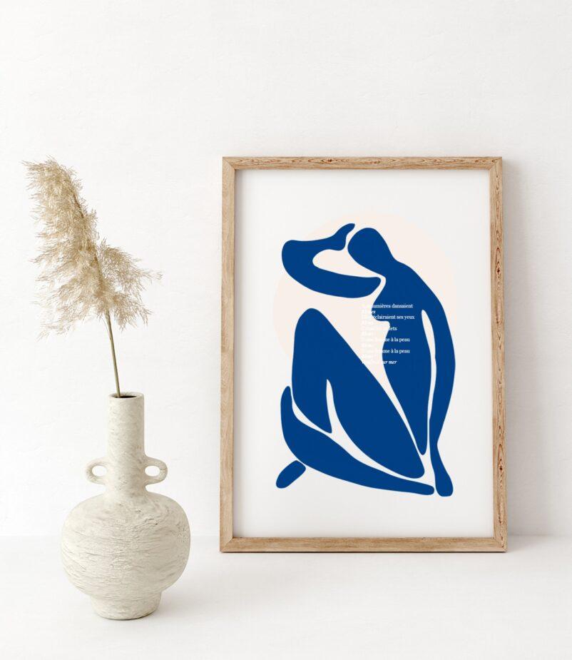 Une Femme à la Peau Bleue by Ninon | Limited Edition Art Print | EROS+VESTA
