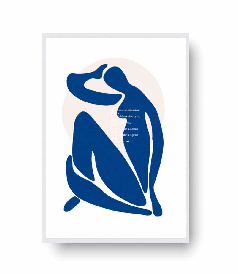 Une Femme à la Peau Bleue by Ninon | Limited Edition Contemporary Art | EROS+VESTA