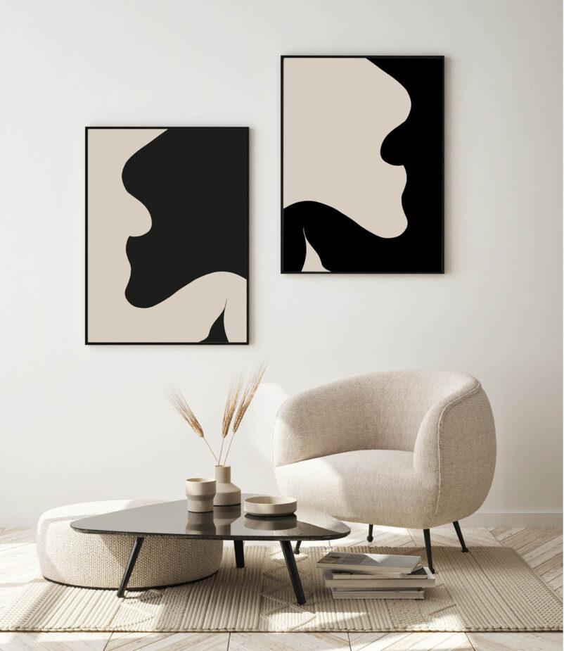 Ombre & Lumière | Contemporary Art Print by Ninon