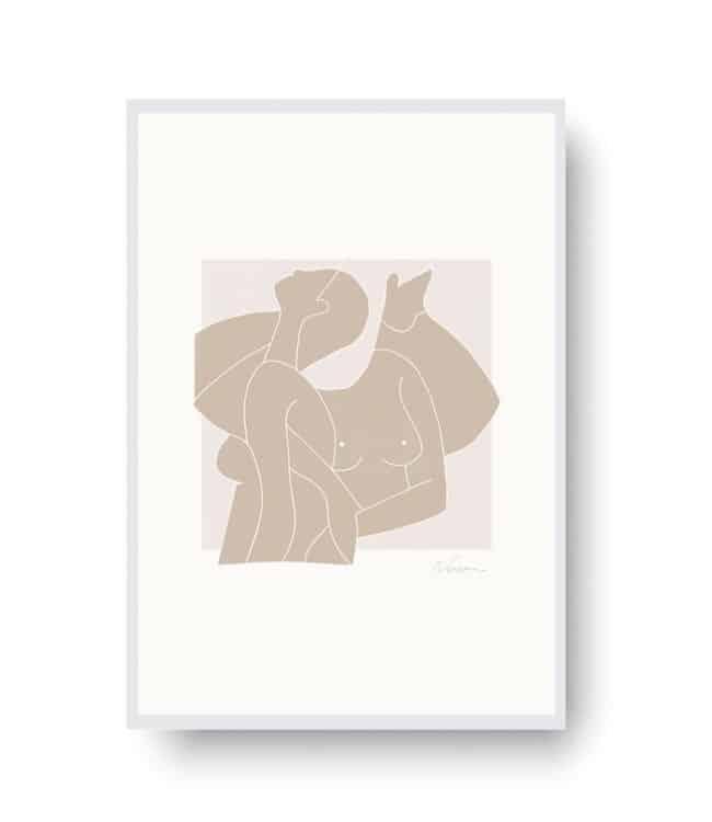 Two Nudes II by Ninon | Limited Edition Art Print | EROS+VESTA